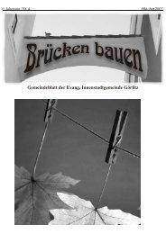 Brücken bauen Nr. 4 2007 - Evangelischer Kirchenkreisverband ...