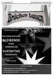 Brücken bauen Nr. 1 2013 - Evangelischer Kirchenkreisverband ...