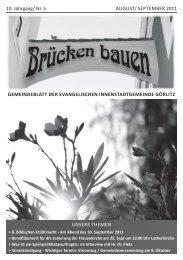 Brücken bauen Nr. 5 2011 - Evangelischer Kirchenkreisverband ...