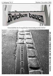 Brücken bauen Nr. 6 2009 - Evangelischer Kirchenkreisverband ...