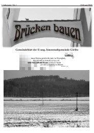 Brücken bauen Nr. 1 2008 - Evangelischer Kirchenkreisverband ...