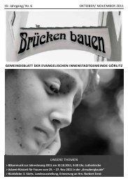 Brücken bauen Nr. 6 2011 - Evangelischer Kirchenkreisverband ...