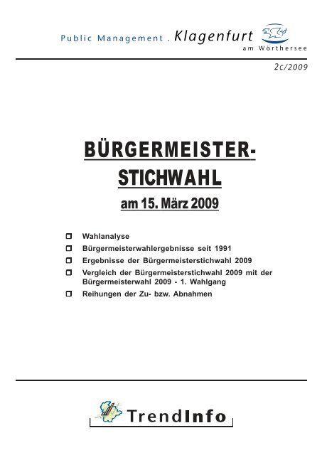 BÜRGERMEISTER- STICHWAHL - Klagenfurt