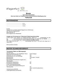 Muster zur Tiefensonde - Magistrat Klagenfurt