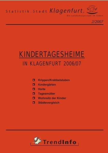 TrendInfo 2/2007: Kindertagesheime in Klagenfurt 2006/07