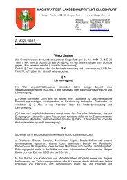 Lärmschutzverordnung - Magistrat Klagenfurt