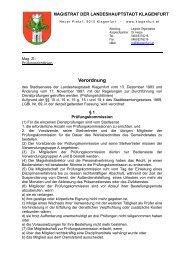 Prüfungsrichtlinien - Magistrat Klagenfurt