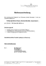 Stellenausschreibung - Magistrat Klagenfurt