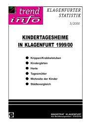 KINDERTAGESHEIME IN KLAGENFURT 1999/00