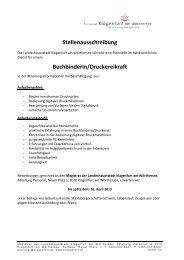 Stellenausschreibung BuchbinderIn/Druckereikraft - Magistrat ...