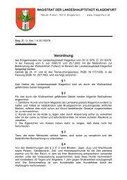 Tollwutverordnung - Magistrat Klagenfurt