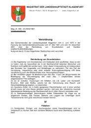 Unratsverordnung - Magistrat Klagenfurt
