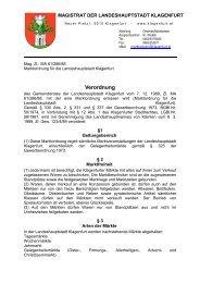 Marktordnung - Magistrat Klagenfurt