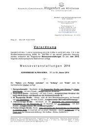Detaillierte Infos finden Sie hier in der Verordnung - Klagenfurt