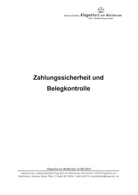 Zahlungssicherheit und Belegkontrolle - Klagenfurt
