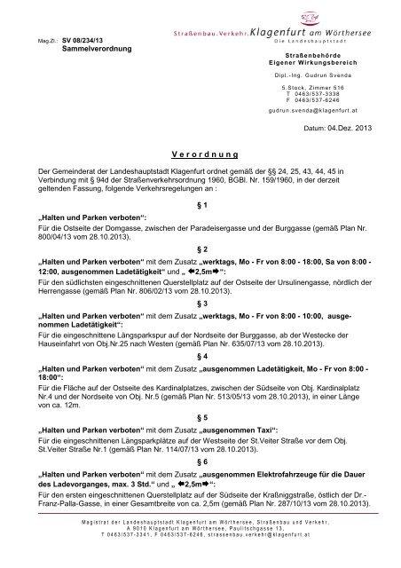 Domgasse, Ursulinengasse, Burggasse, Kardinalplatz ... - Klagenfurt
