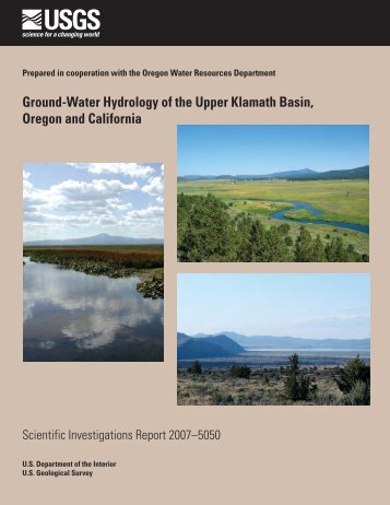 Ground-Water Hydrology of the Upper Klamath Basin, Oregon and ...