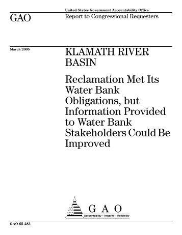 HERE - Klamath Basin Crisis