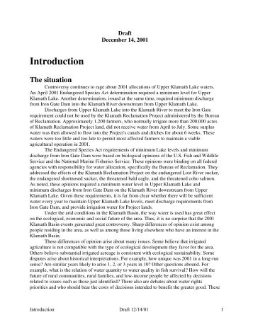 Complete - Klamath Basin Crisis