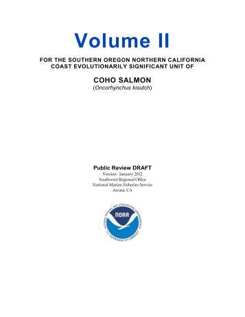 Recovery Plan Volume 2 - Klamath Basin Crisis