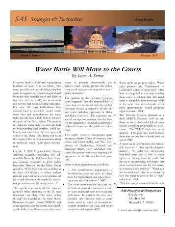 Water Battle Will Move to the Courts - Klamath Basin Crisis