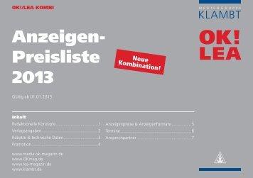 OK! / Lea Kombi - Klambt-Verlag