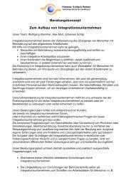 Beratungskonzept Zum Aufbau von Integrationsunternehmen