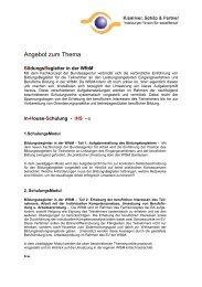 Flyer Bildungsbegleiter - Aufgaben - Klammer Schilp Partner