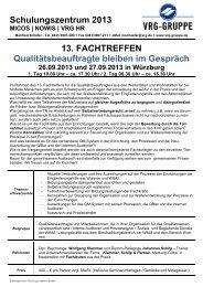 13. Fachtreffen - Klammer Schilp Partner