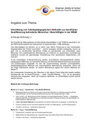 Flyer Bildung 2 - Klammer Schilp Partner