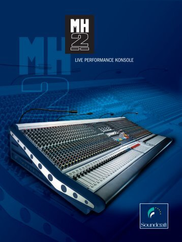 Katalog Soundcraft MH-2 - klangdesign GmbH
