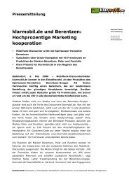 klarmobil.de und Berentzen: Hochprozentige Marketing kooperation