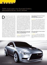 T2M Inter v iew mi t Konr ad Finkler, Geschäftsführer Dröll GmbH