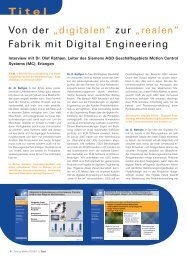 "Von der ""digitalen"" zur ""realen"" Fabrik mit Digital Engineering"