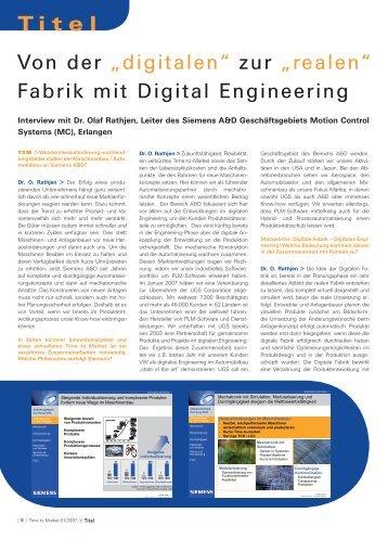 """Von der """"digitalen"""" zur """"realen"""" Fabrik mit Digital Engineering"""