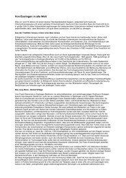 Von Esslingen in alle Welt - Klartext - Agentur für klare Kommunikation