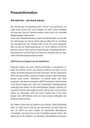 Huber und Suhner GmbH - IFA stellt klar - der Druck wächst