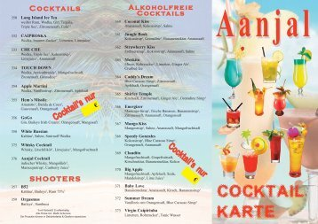 Cocktails - aanjal.de