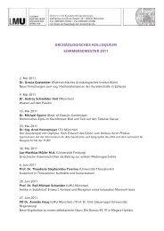 Archäologisches Kolloquium - Klassische Archäologie - LMU