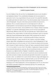 Les aménagements hydrauliques de la ville de Pompeiopolis: état ...