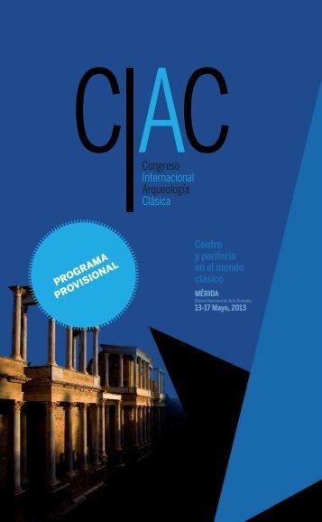 Descargar programa preliminar (PDF) - Congreso Internacional de ...