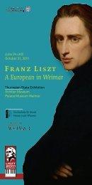 FRANZ LISZT · EIN EUROPÄER IN WEIMAR - Klassik Stiftung Weimar