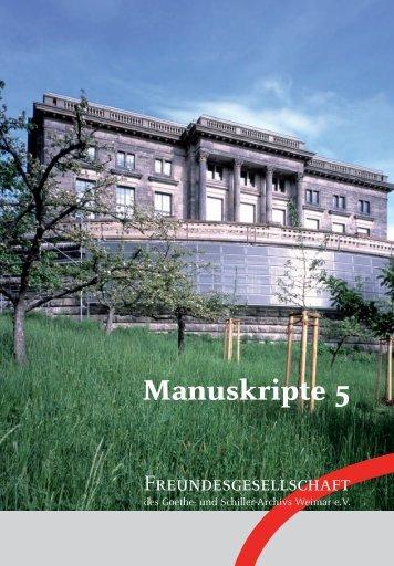 Manuskripte 5 (2012)