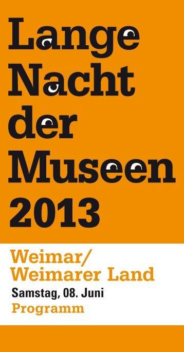 Programm zur Langen Nacht der Museen - Klassik Stiftung Weimar