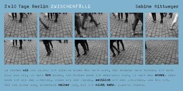 Flyer Sabine Rittweger - Klassik Stiftung Weimar