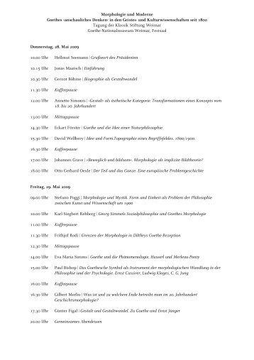 Morphologie und Moderne Goethes ›anschauliches Denken‹ in den ...