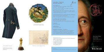 Flyer zur Ausstellung - Klassik Stiftung Weimar