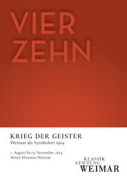 KRIeG DeR GeISteR - Klassik Stiftung Weimar