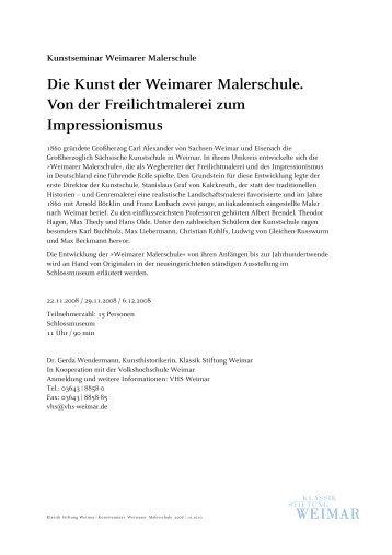 Die Kunst der Weimarer Malerschule. Von der Freilichtmalerei zum ...