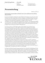 Pressemitteilung zum Abschluss des VOF-Verfahrens